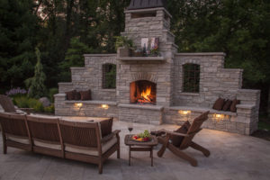 outdoor fireplace - pool company in fredericksburg