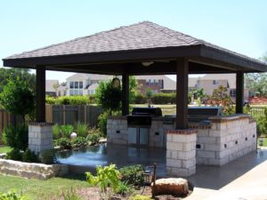 backyard gazebo - pool companies in san antonio