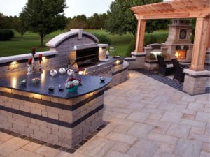 outdoor kitchen - san antonio pool builders